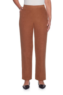 Plus Proportioned Short Suede Pant