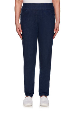 Image: Plus Proportioned Short Superstretch Denim Jean