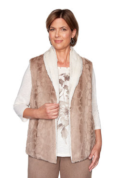 Image: Plus Reversible Fur Vest