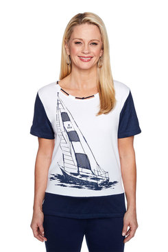 Image: Plus Sailboat Mesh Border Top