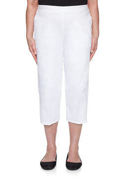 Image: Plus Sateen Lattice Cuff Capri