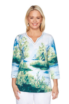 Image: Plus Scenic Printed Shirt