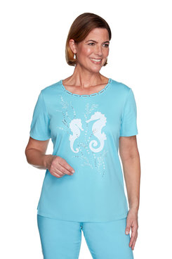 Image: Plus Seahorse Applique Top