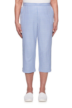 Image: Plus Seersucker Gingham Capri
