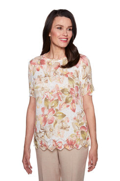 Image: Plus Sequin Floral Sweater