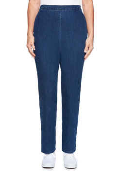 Image: Plus Solid Denim Proportioned Medium Pant