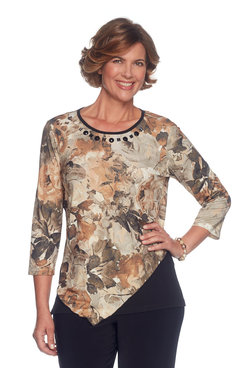 Plus Spliced Floral Top