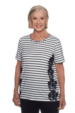 Image: Plus Stripe Applique Top