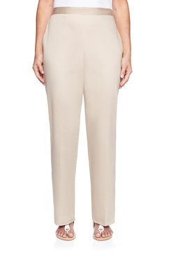 Image: Plus Tailored Flat Front Proportioned Medium Pant