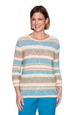 Image: Plus Textured Biadere Sweater