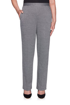 Image: Plus Textured Knit Proportioned Short Pant