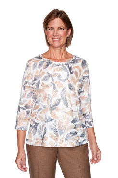 Image: Plus Textured Scroll Knit Top
