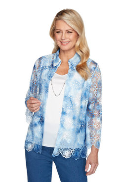 Image: Plus Tie Dye Two-for-One Top