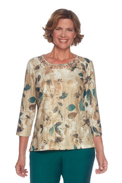Plus Tossed Floral Top
