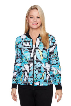 Image: Plus Tropical Print Jacket