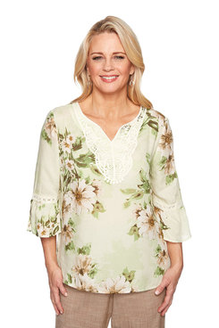 Image: Plus Watercolor Floral Top