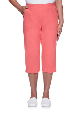 Image: Plus Women's Comfort Lightweight Cotton Capri