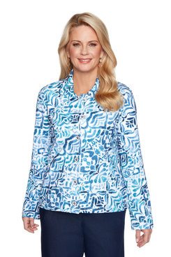 Image: Plus Women's Gradient Print Jacket