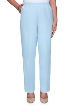 Image: Plus Women's Textured Short Length Trouser Pant