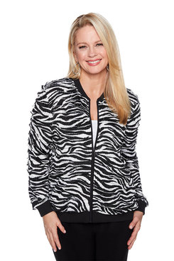 Image: Plus Zebra Ruffle Jacket
