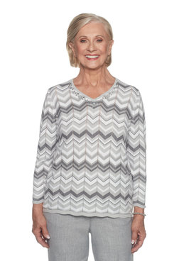 Image: Plus Zig Zag Biadere Sweater