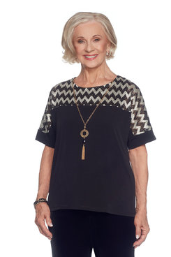 Image: Plus Zig Zag Sparkle Top