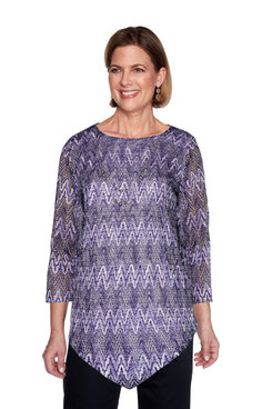 Image: Plus Zig Zag Textured Top