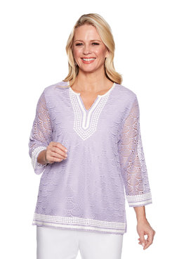 Image: Pointelle Lace Tunic