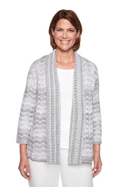 Image: Pointelle Textured Cardigan