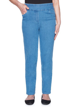 Image: Proportioned Short Allure Superstretch Denim Jean