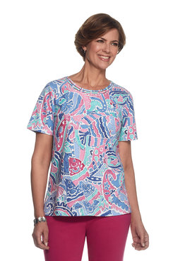 Reel It In Petite Abstract Fish Top