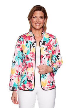 Image: Reversible Floral Quilted Jacket