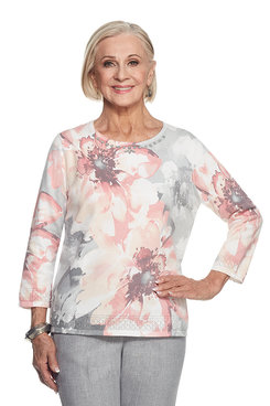 Rose Hill Petite Exploded Floral Sweater