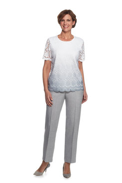 Rose Hill Petite Lace Front Sweater