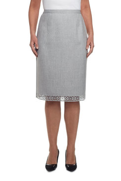 Rose Hill Petite Laser Cut Border Skirt