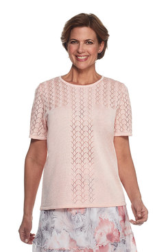 Rose Hill Petite Pointelle Solid Shell Sweater