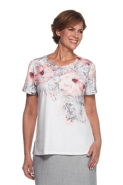 Rose Hill Plus Scroll Floral Top
