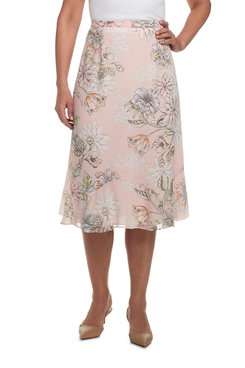 Rose Hill Plus Stencil Floral Skirt