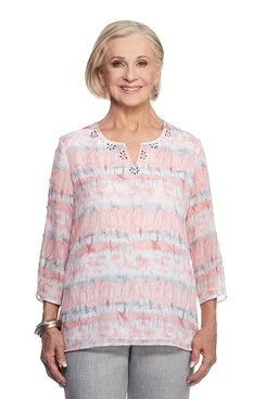 Rose Hill Plus Watercolor Biadere Top