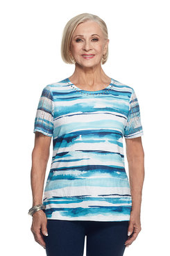 Scenic Route Brushstroke Stripe Top