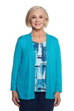 Scenic Route Petite Brushstroke Inner Two for One Sweater
