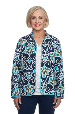 Scenic Route Plus Scroll Reversible Quilt Jacket
