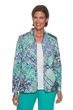 Image: Scroll Patch Quilt Jacket