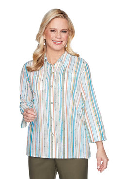 Image: Striped Button-Down Shirt