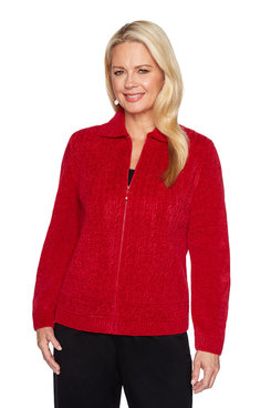Image: Texture Chenille Cardigan