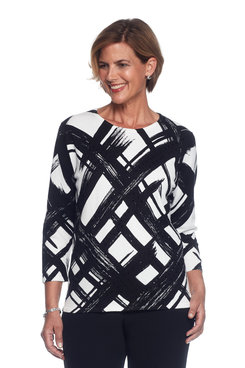 Theater District Petite Brushstroke Sweater