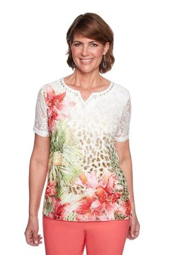 Image: Tropical Skin Lace Top