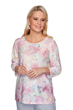 Image: Watercolor Floral Textured Top