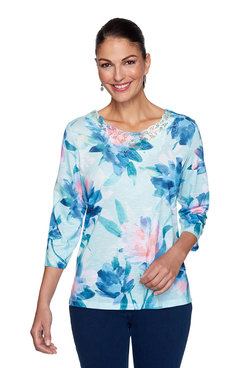 Image: Watercolor Floral Top