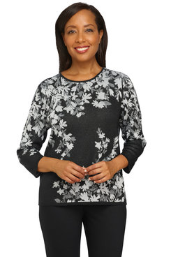 Image: Women's Floral Jacquard Sweater